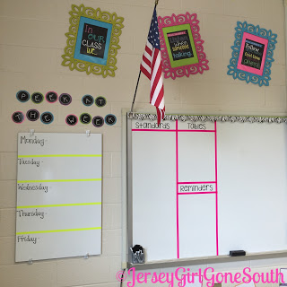 Classroom Rules frames hung up