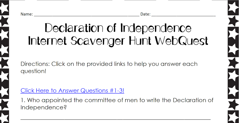 Internet Scavenger Hunt Webquest