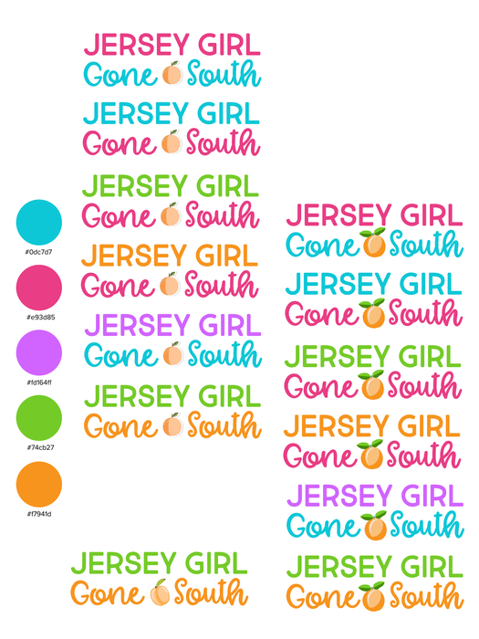 Jersey Girl Gone South Logo Header Options